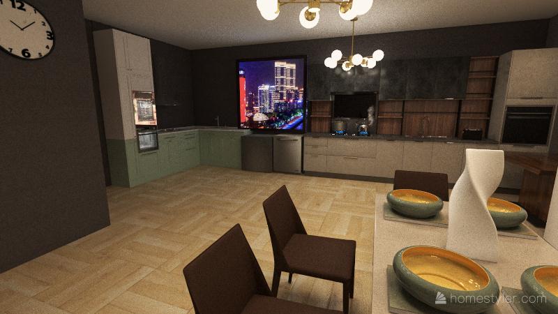 Plano casa dos pisos Interior Design Render