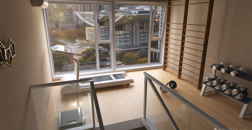 Gym in the City Interior Design Render