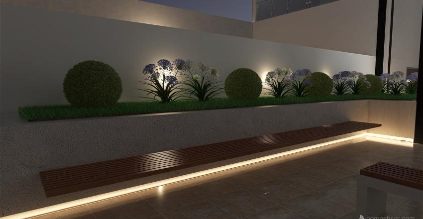 Jardin Interno - Hospital Interior Design Render