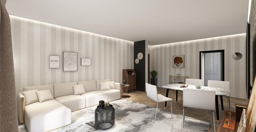 Appartamento trilocale Interior Design Render