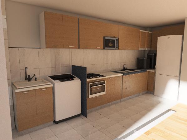 CozinhaReta Interior Design Render