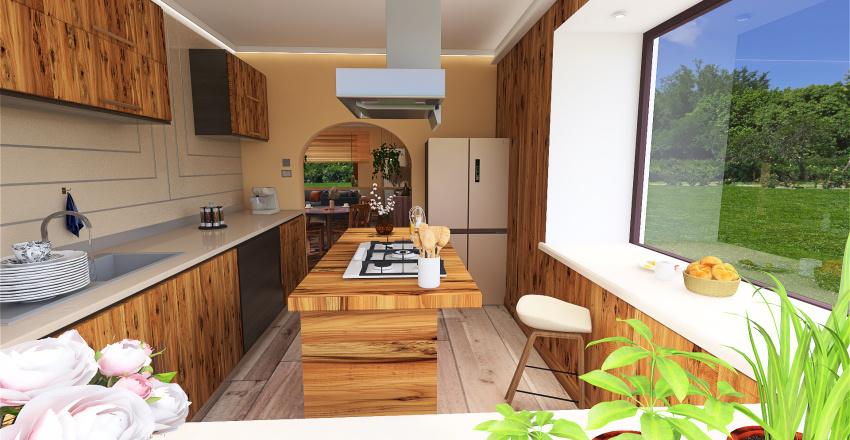 bohemian style Interior Design Render