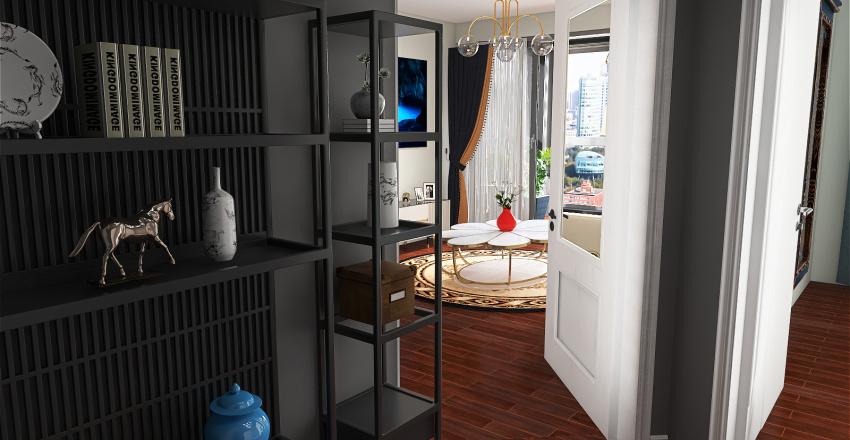 Apartamento com vista pra cidade Interior Design Render