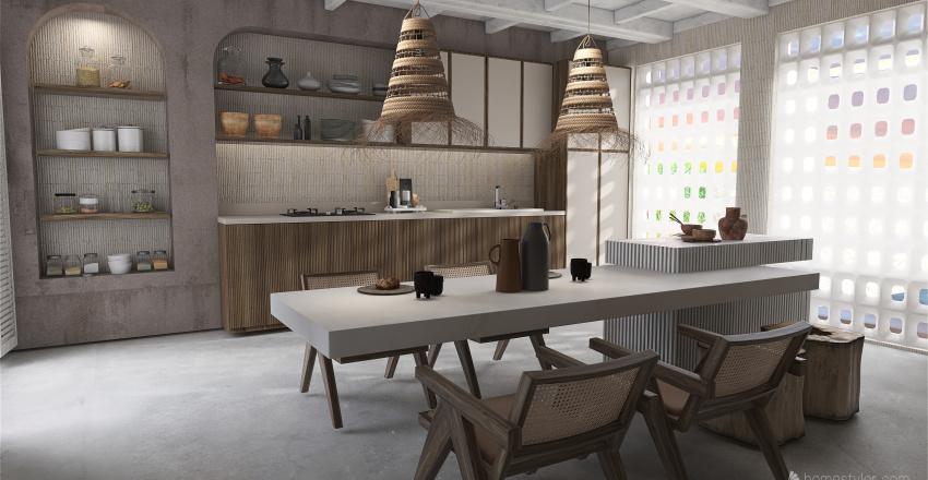 Casa  en Formentera Interior Design Render