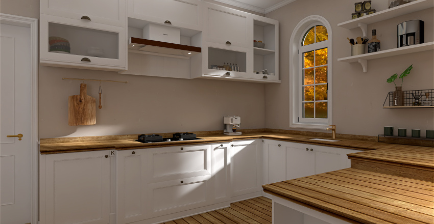 small studio apartment Interior Design Render