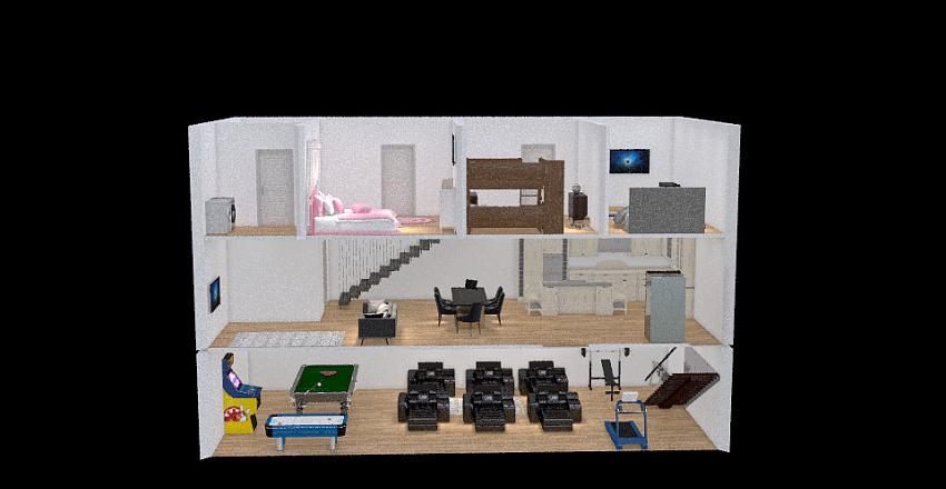 """Dream Home Project -Kempka"" Interior Design Render"