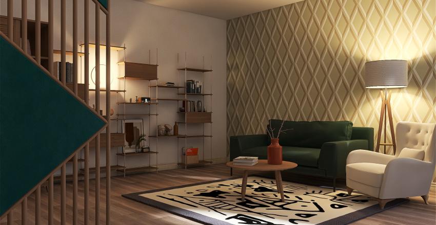 Green Bedroom Interior Design Render