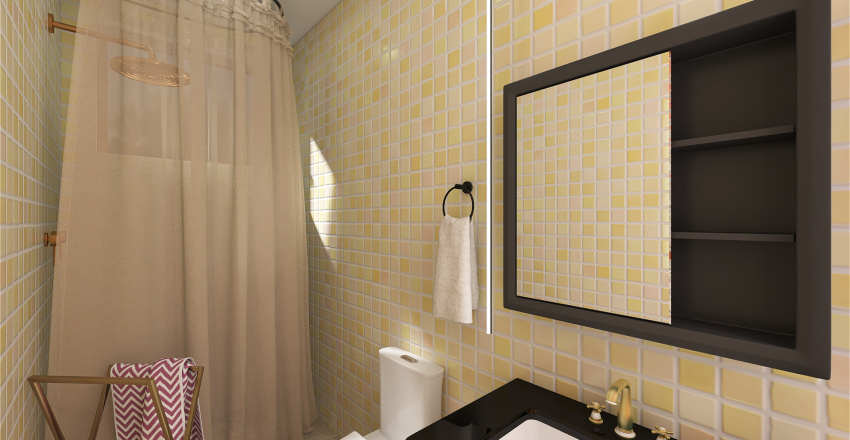 Casa no Campo Interior Design Render