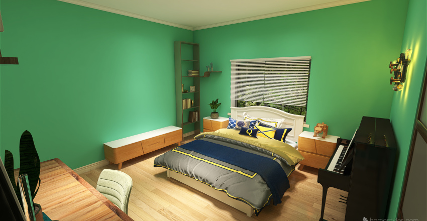 cuarto de oscar Interior Design Render