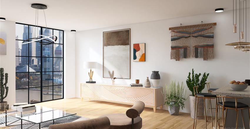 apartamento/studio Interior Design Render