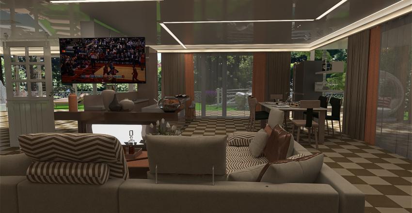 casetta in collina Interior Design Render