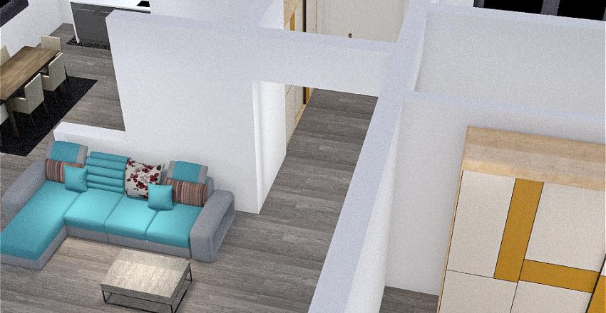 Proiect casa V19 - acces dormitor living Interior Design Render