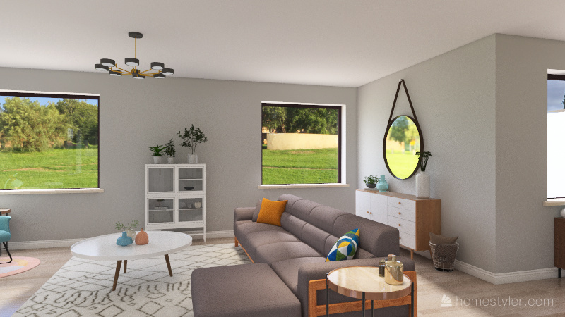 country style home Interior Design Render