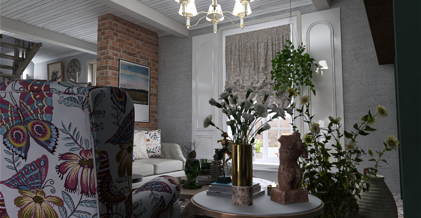 In the core of the Cottage! Interior Design Render