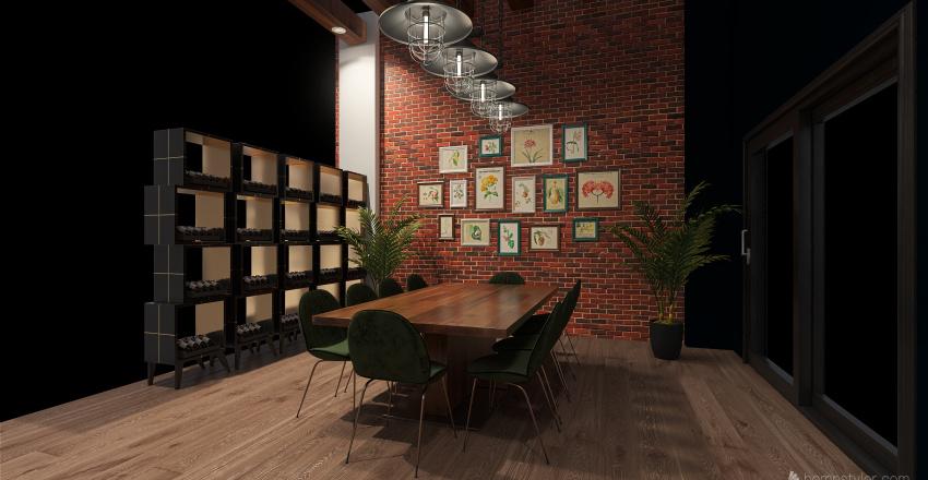 Cocina - Comedor Interior Design Render