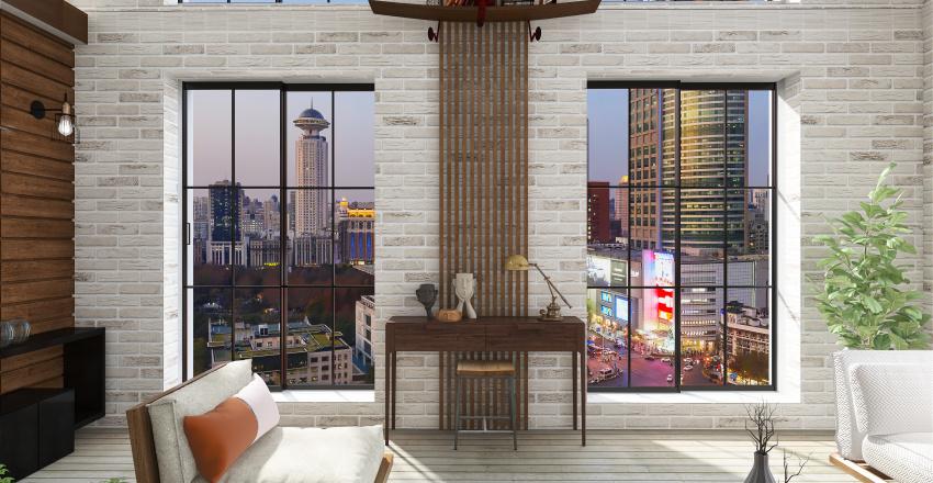 simple loft Interior Design Render