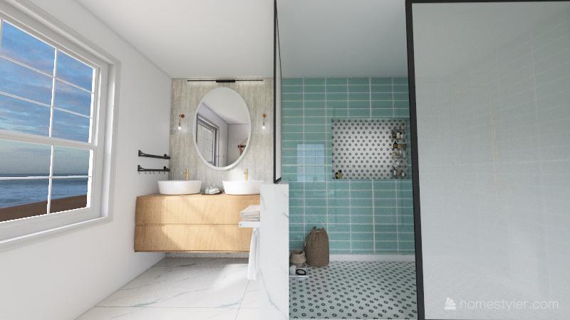 coastal bathroom Interior Design Render
