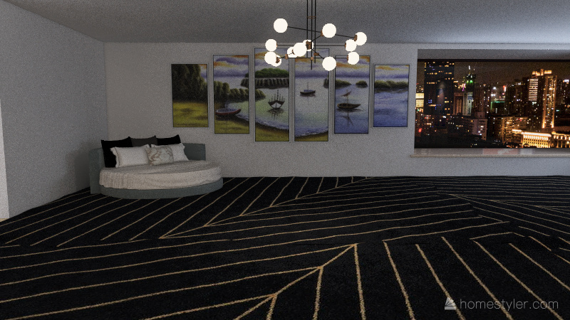 2 story apartment Interior Design Render