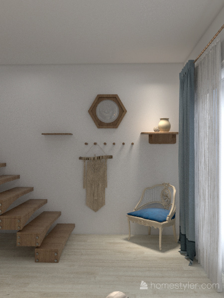 Greek Island Interior Design Render