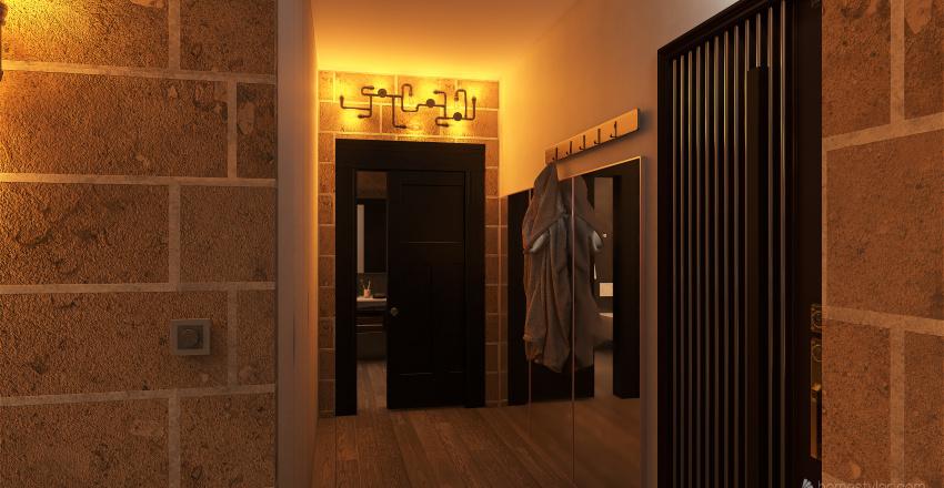 Piso estilo industrial Interior Design Render