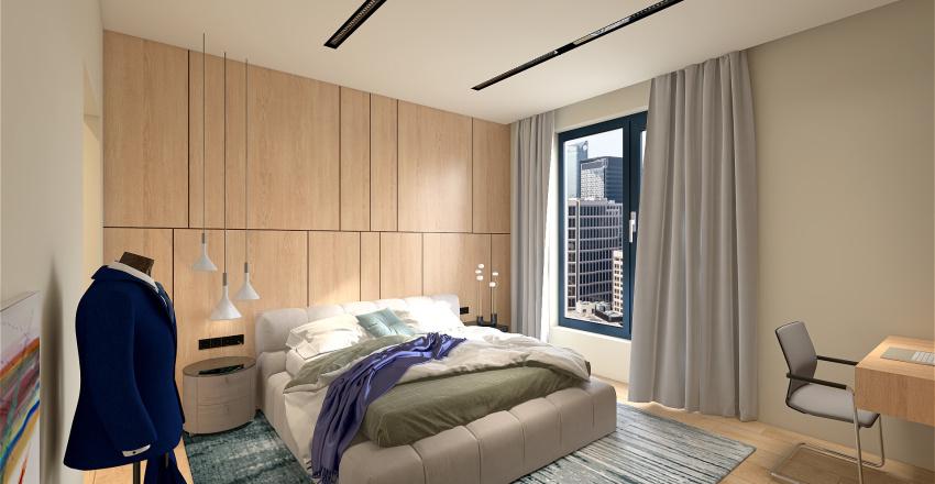 Bedroom in New York Interior Design Render