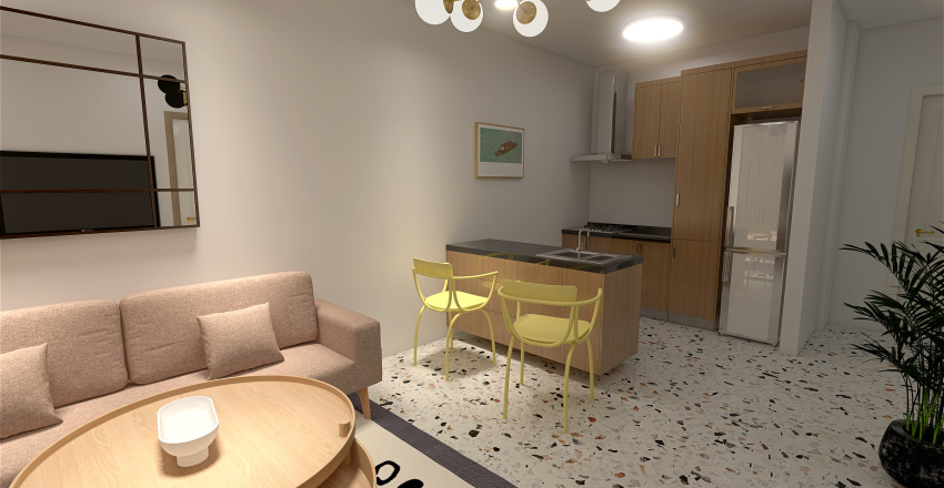 dworcowa Interior Design Render