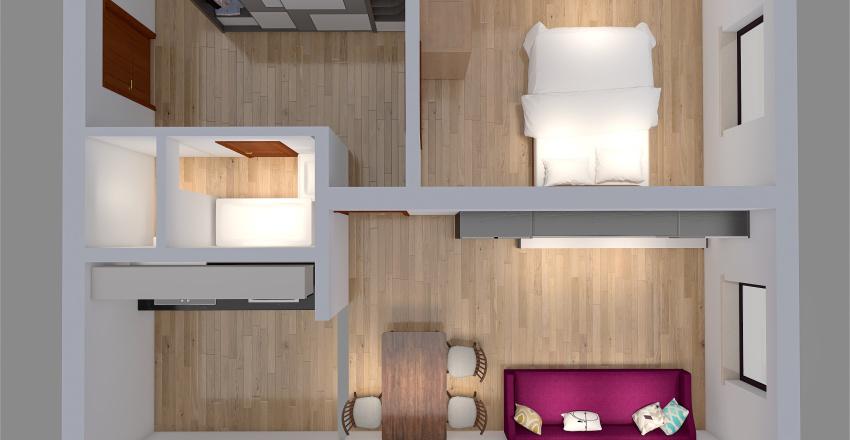2+kk, ul. V Závětří, Teplice Interior Design Render
