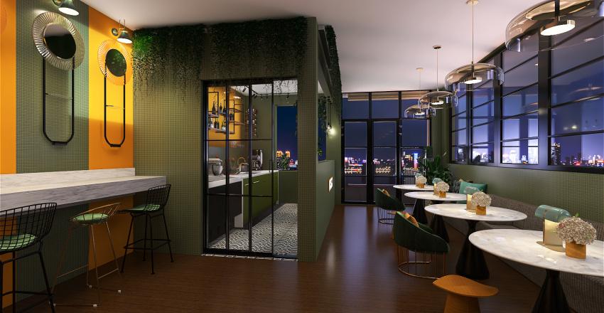 Restaurant Interior Design Render
