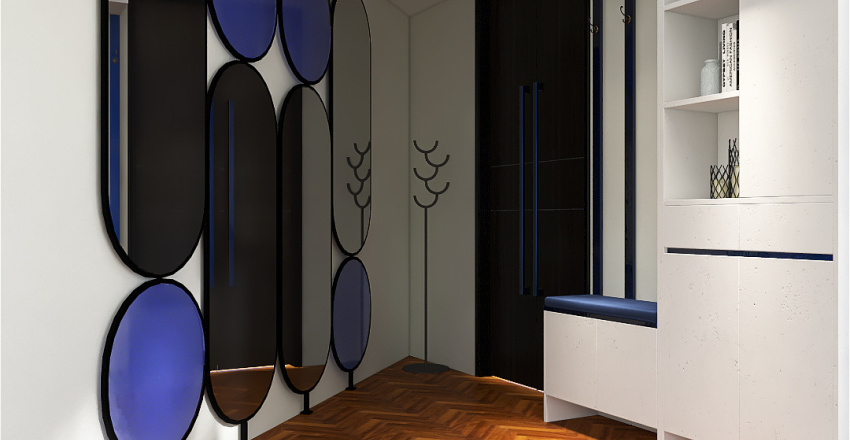 triangle house Interior Design Render