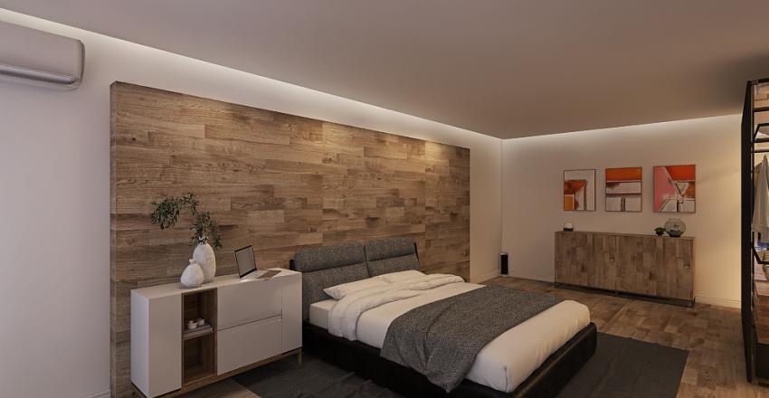 Hotel Modern Bedroom Interior Design Render