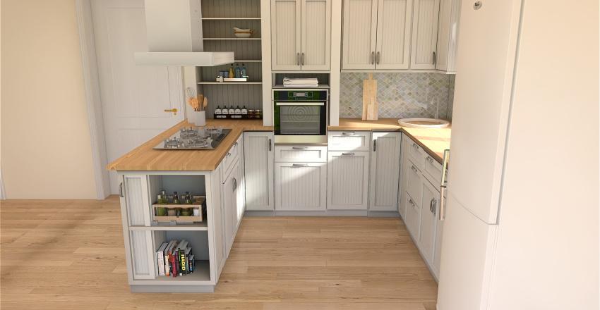 Кухня-гостинная (2 варианта) Interior Design Render
