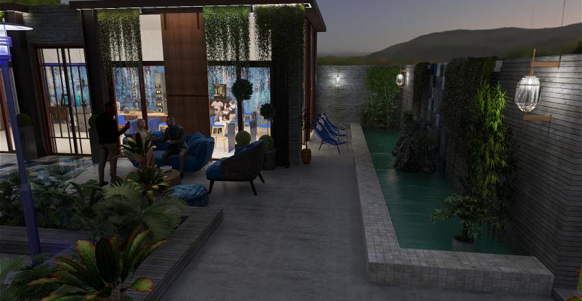 Jardin imaginaire,bar à vin Interior Design Render