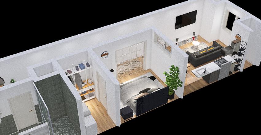 Poplar Apt Interior Design Render