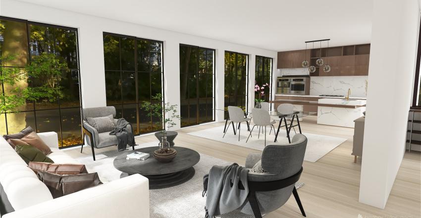 House in Seattle Interior Design Render