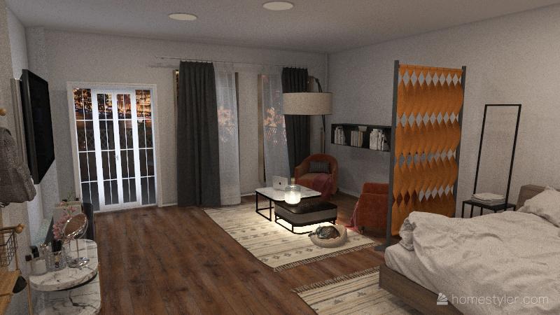 Дом с машиной Interior Design Render