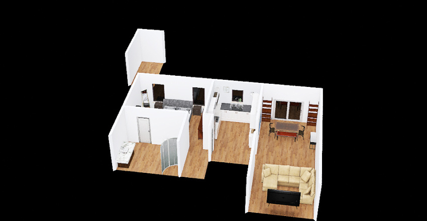 v2_Cappy's House Interior Design Render
