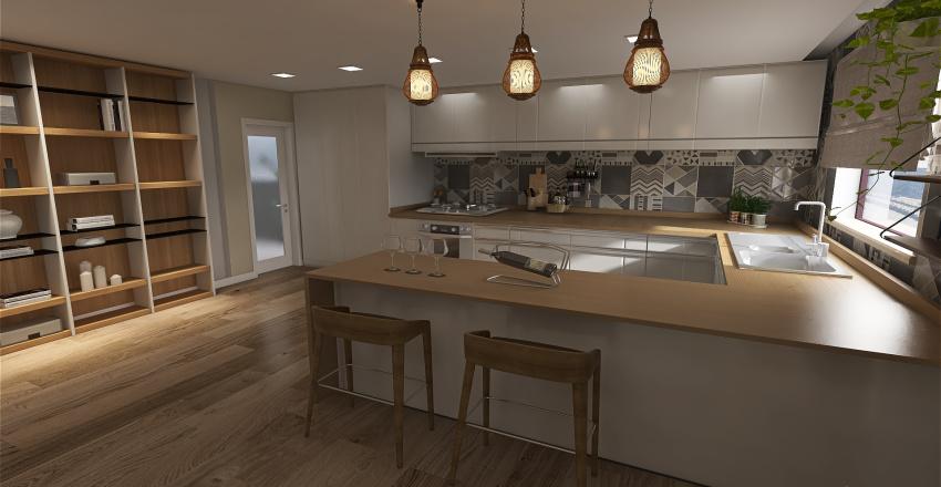 apartamento claro Interior Design Render