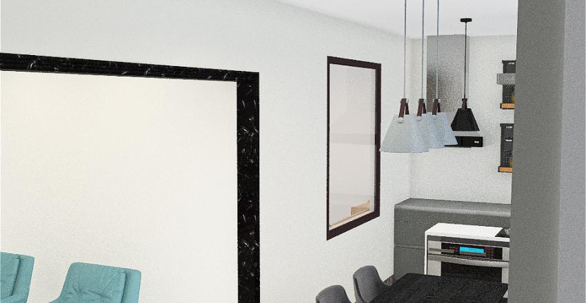 Varanda Gourmet - parede decorada Interior Design Render