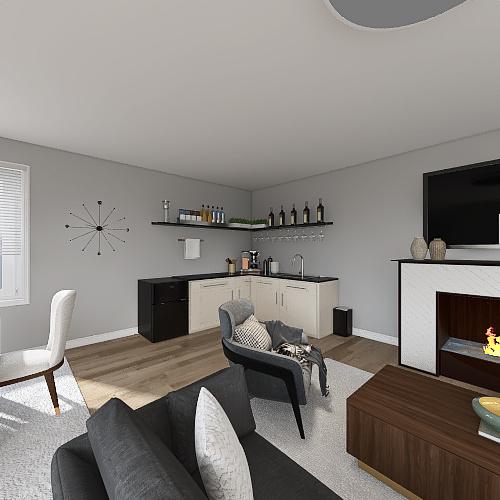 Great Room Floor Plan Final Interior Design Render