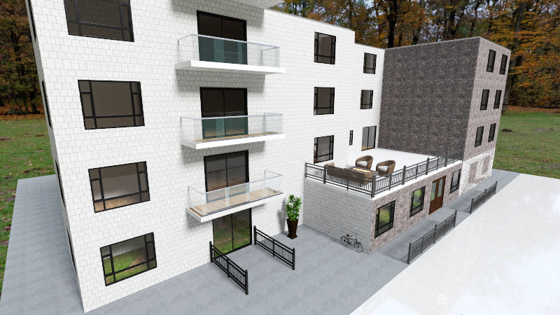 Apartment Complex Interior Design Render