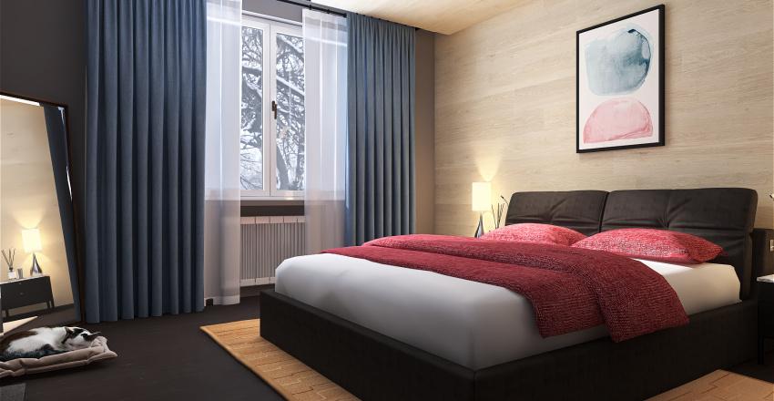 Mountain Bedroom Interior Design Render