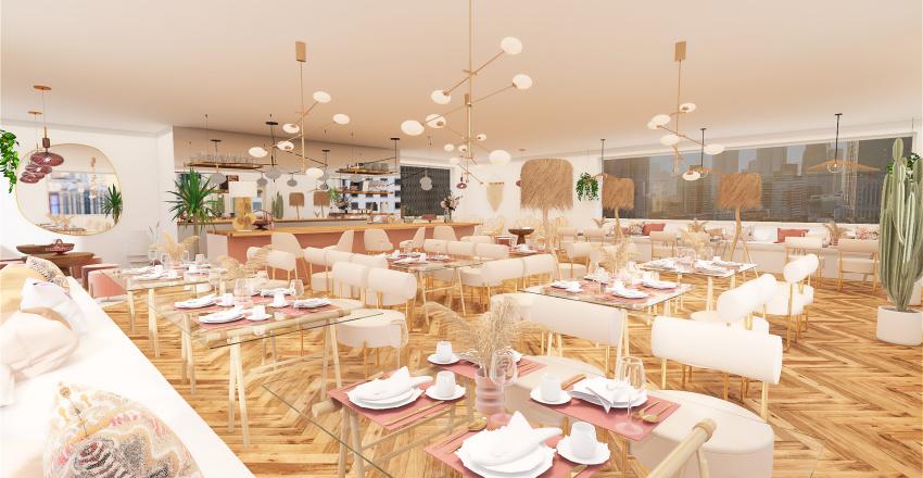 Bar/Restaurante OPCIÓN 2 Interior Design Render
