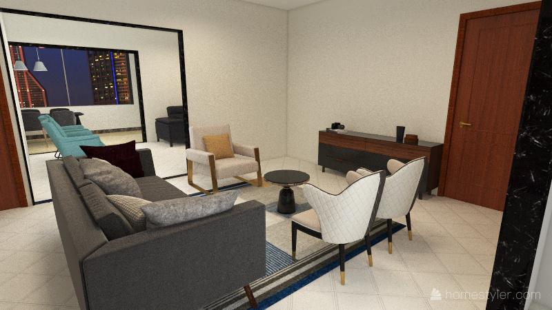 Varanda Gourmet - sala menor Interior Design Render