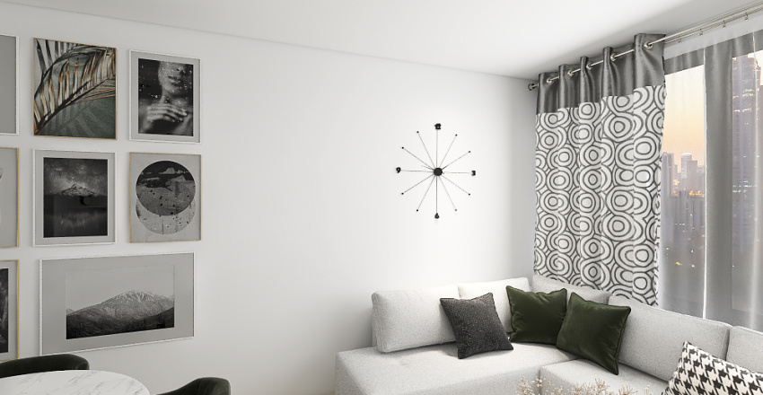Small modern apartment Interior Design Render