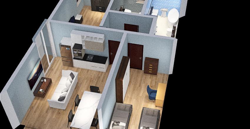 appartamento 70 mq Interior Design Render