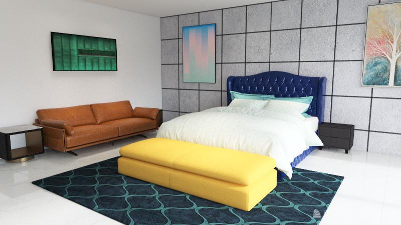 3BHK Cozy Apartment Interior Design Render