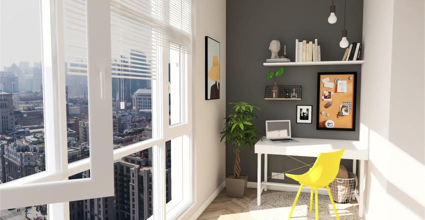 балкон Interior Design Render