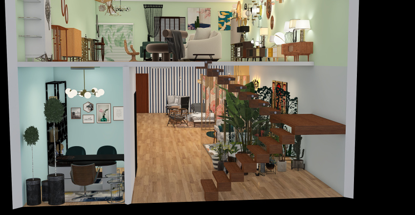 furniture store Interior Design Render