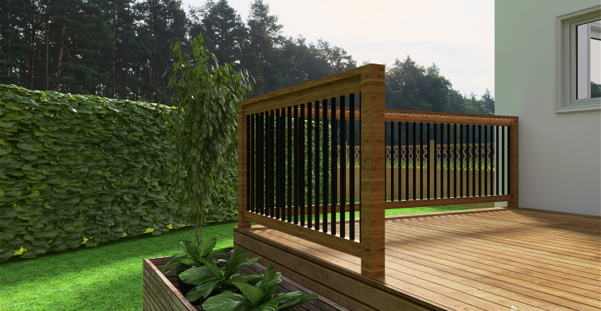 Backyard Interior Design Render