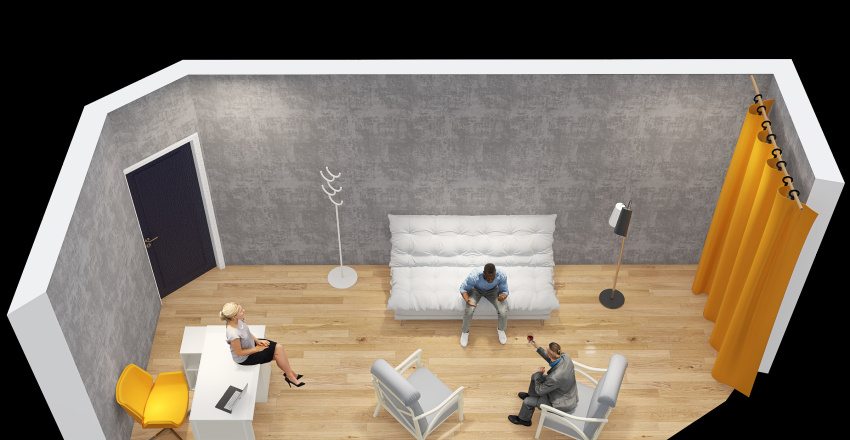 Svetlie oboi Kabinet Naichki Interior Design Render